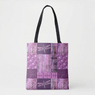 Pátina púrpura: Mosaico Bolsa De Tela
