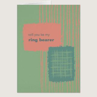 Patina, Sea & Coral Be My Ring Bearer Card