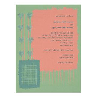 Patina, Sea & Coral Wedding Invitation 3