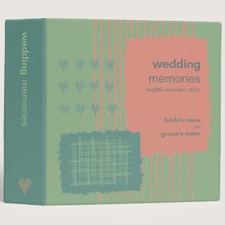 Patina, Sea & Coral Wedding Memories Binder