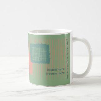 Patina, Sea & Coral Wedding Mug