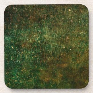 pátina verde posavasos de bebida