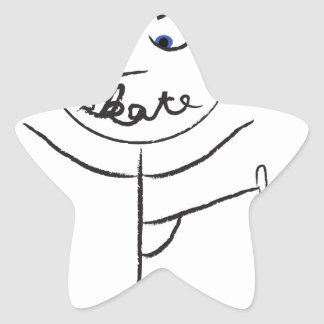 Patinador 2013 pegatina en forma de estrella