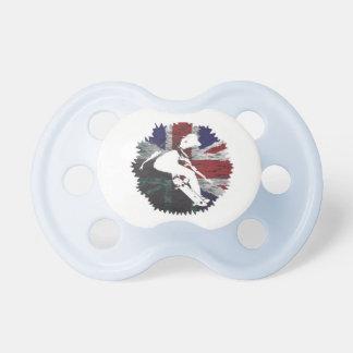 Patinador británico chupete de bebe