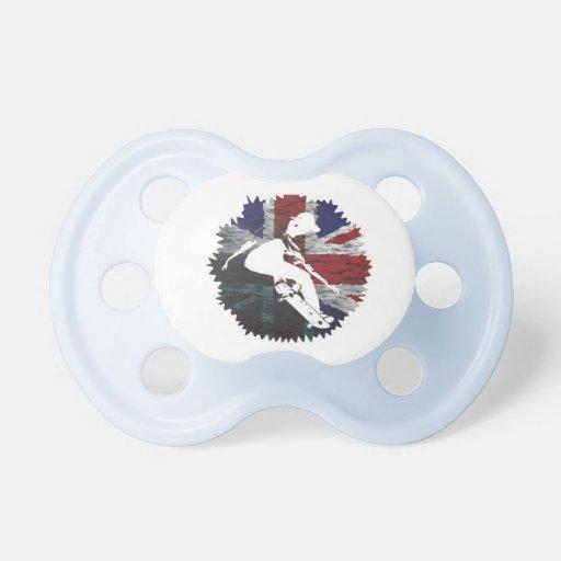 Patinador británico chupetes de bebe