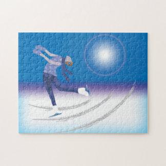 Patinador de hielo agraciado puzzles con fotos