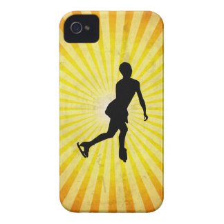 Patinador de hielo; amarillo Case-Mate iPhone 4 protectores