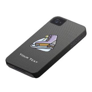 Patinador de hielo; Falsa fibra de carbono iPhone 4 Cárcasas