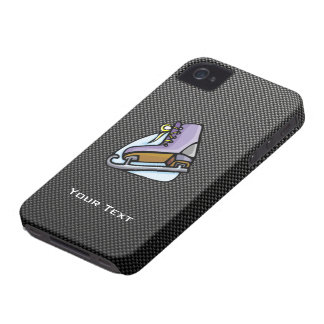 Patinador de hielo; Falsa fibra de carbono iPhone 4 Case-Mate Fundas