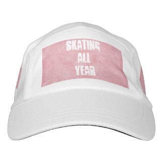Patinador de hielo rosado gorra de alto rendimiento