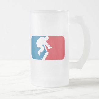 Patinador de la primera división taza de cristal