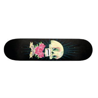 patinador del cráneo del caramelo skateboard