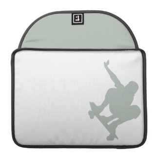 Patinador del gris de ceniza fundas para macbooks