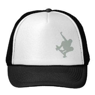 Patinador del gris de ceniza gorras