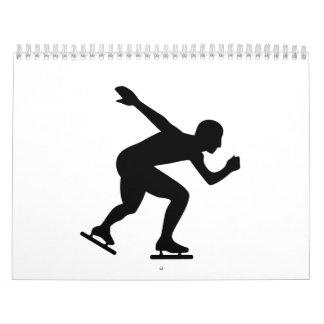 Patinador del patinaje de velocidad calendarios