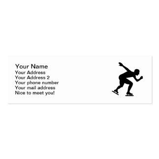Patinador del patinaje de velocidad tarjetas personales