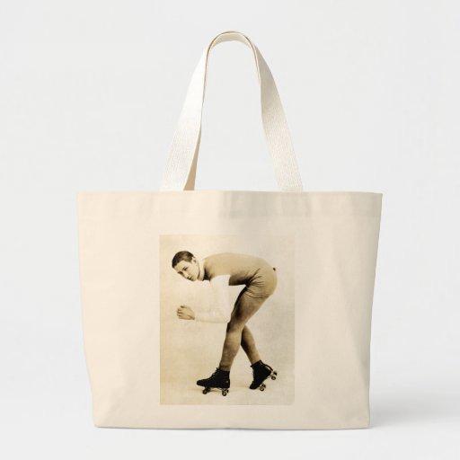 patinador del rodillo de los años 20 bolsa lienzo