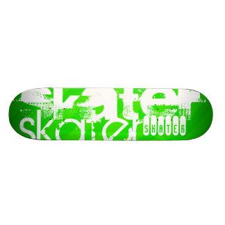 Patinador; Rayas verdes de neón Monopatín Personalizado