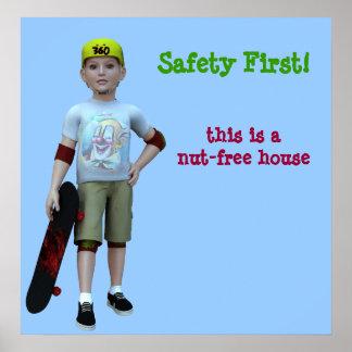 ¡Patinador, seguridad primero! , esto es una casa Póster