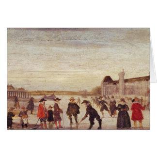 Patinadores en el Sena en 1608 Tarjeta De Felicitación