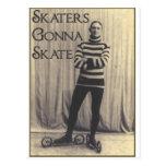 Patinadores que van a patinar… postal