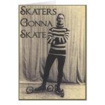 Patinadores que van a patinar… tarjeta de felicitación