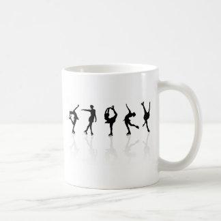 Patinadores y reflexiones taza de café