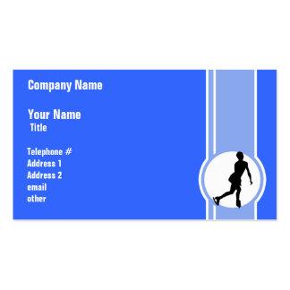 Patinaje artístico azul tarjeta de negocio