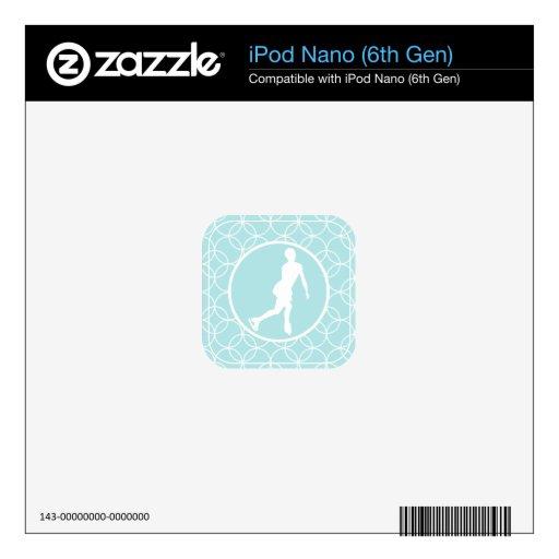 Patinaje artístico; Círculos de los azules cielos Skin Para El iPod Nano