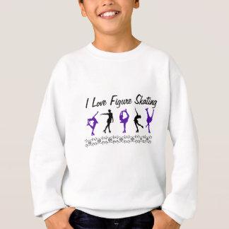 Patinaje artístico el amor de la camiseta I de los