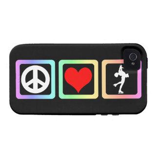 patinaje artístico el amor de la paz iPhone 4 fundas