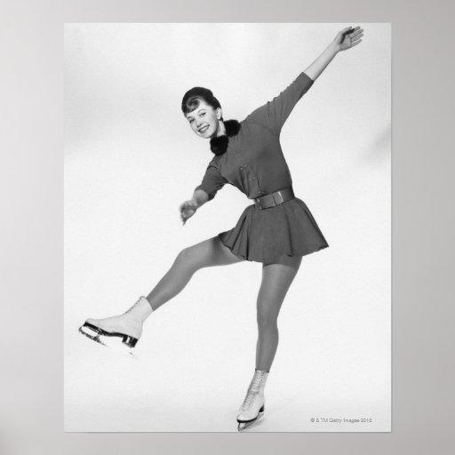 Patinaje artístico la mujer posters
