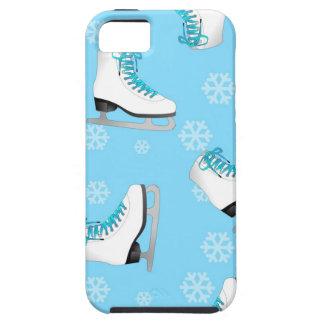 Patinaje artístico - patines de hielo azules con l iPhone 5 funda