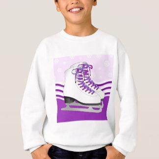 Patinaje artístico - patines de hielo púrpuras con sudadera