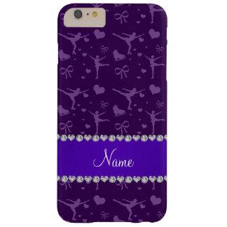 Patinaje artístico púrpura conocido personalizada funda barely there iPhone 6 plus