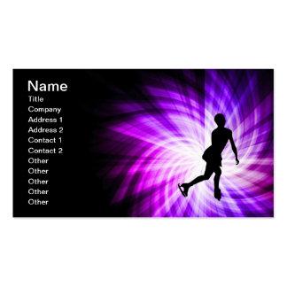 Patinaje artístico púrpura plantillas de tarjeta de negocio