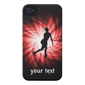 Patinaje artístico rojo iPhone 4 Case-Mate cárcasas