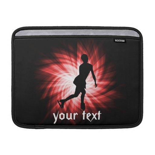 Patinaje artístico rojo funda para macbook air