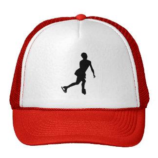 Patinaje artístico rojo gorras de camionero