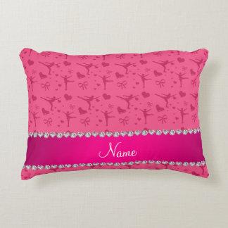 Patinaje artístico rosado conocido personalizada cojín
