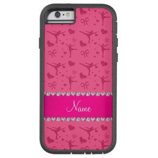 Patinaje artístico rosado conocido personalizada funda tough xtreme iPhone 6