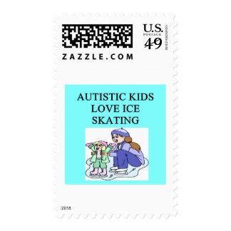 patinaje de hielo autístico del amor de los niños franqueo