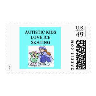patinaje de hielo autístico del amor de los niños sello