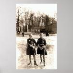 Patinaje de hielo de 1925 novias impresiones