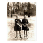Patinaje de hielo de 1925 novias tarjetas postales