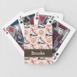 Patinaje de hielo del amor de la paz baraja cartas de poker
