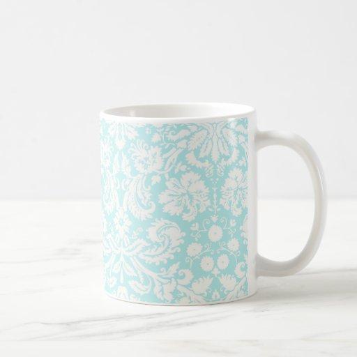 Patinaje de hielo del modelo del damasco del trull tazas de café