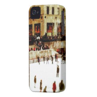 Patinaje de hielo del vintage en el caso del iPhon iPhone 4 Case-Mate Carcasas