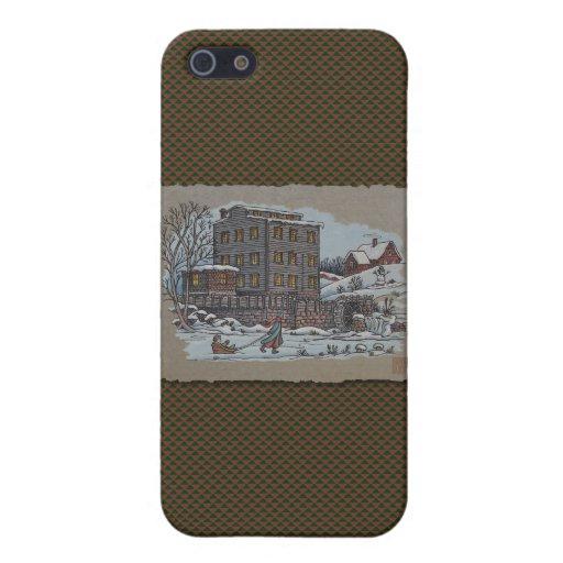 Patinaje de hielo en la charca de Gristmill iPhone 5 Carcasa
