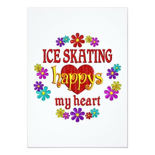 """Patinaje de hielo feliz invitación 5"""" x 7"""""""